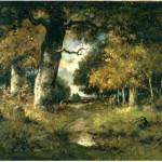 A Woodland Scene. N. Diaz de la Pena 1807-1876