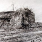 "Blockhaus ""B"" near Houdain Lez Bavay. 22 March 2002. A2 Charcoal-ink"