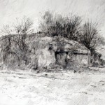 "Blockhaus ""A"" near Houdain Lez Bavay. 20 Nov 2001. A3 Graphite-ink."