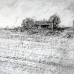 Blockhaus near Jenlain. 3pm 21 Nov 2001. A3 Graphite-ink.