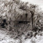 Blockhaus near Jenlain. 2.30pm Tue 7 May 2002. A2 Charcoal- graphite-ink