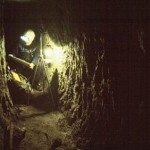 At work in the 1914-18 Tunnels at Vauquois, Jan 1998. Photo