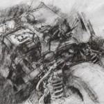 ZXR 600cc sidecar racing outfit. IOM TT. 4 June 1997. A3 Charcoal-ink