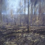 Trenches in Aveluy Wood. Somme. 4.40pm. 7 Feb 2001. 48 x 96 inches. Oil