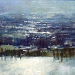 The Seine at Rouen. 5pm Fri 20 Nov 98. 17 x 33 inches. Oil