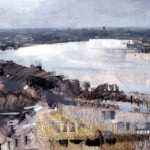 View of Bordeaux. 27 Jan 1999. 33 x 48 inches. Oil