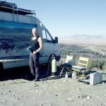 At work in the Sierra Nevada, Southern Spain. 5 Feb 1999. Photo