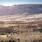 High Plains in the Sierra Nevada, Southern Spain. 5 Feb 1999. 48 x 96 inches. Oil