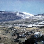 The Pass at Samosierra. 12 Feb 1999. 23 x 47 inches. Oil