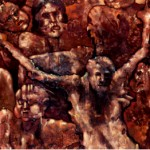 MOHSEN KEIANY. Jesus at Shalamcheh. (Detail) Oil 240x120cm