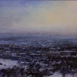 3.40pm 6 January 2010.  The Black Country under Snow. Late afternoon.  Size A3. Oil
