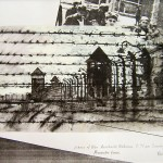 Perimeter Fence, Auschwitz-Birkenau.   5.30pm, 4 May 1997. A4. Ink/gouache over photocopy.