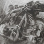 Yamaha engined sidecar racing outfit. Isle of Man TT. 1 June 1997. A3. Charcoal.