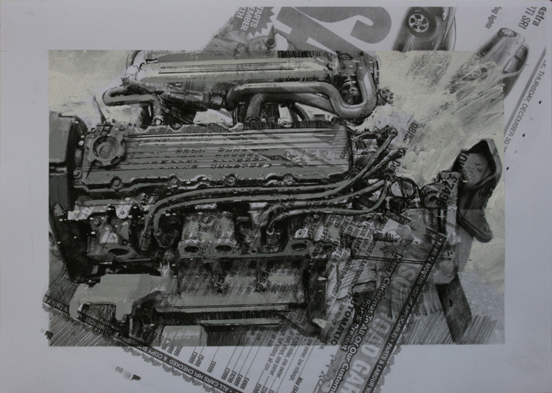 3.20pm, 15 January 2011. 'ENGINE - 03' Size A4 Gouache & Digital Print