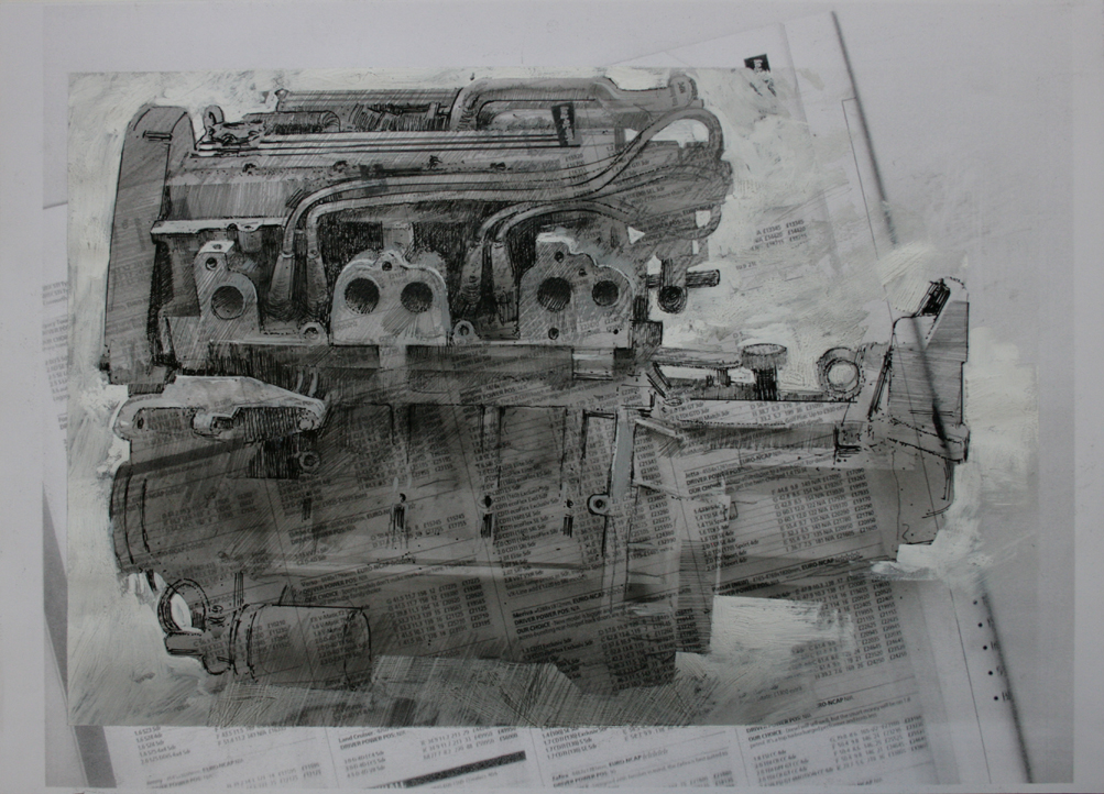 4.40pm, 3 February 2011.'ENGINE - 07' Size A3 Drawing