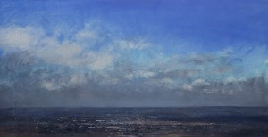 Dp-L05 View East from Darby's Hill, Dudley.Size 60x120cm. Media Oil. SOLD