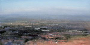 Dp-L10. View over Tividale. Size 60x120cm Media Oil. Price £1495