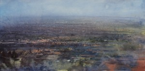 Dp-L12 Hazy Black Country. Size 90x180cm Media Oil. Price SOLD