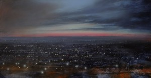 Dp-L14 November Nightfall in the Black Country. Size 60x120cm. Media Oil. SOLD