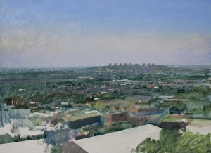 Dp-M03 View of Brierley Hill from Oldnall. Size A1 60x84cm. Media Oil. Price £995 SOLD