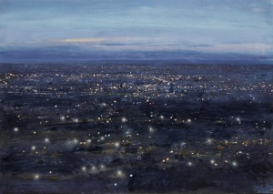 Dp-S09 Black Country Dusk from Turner's Hill. Size A3 (30x42cm) Media Oil SOLD