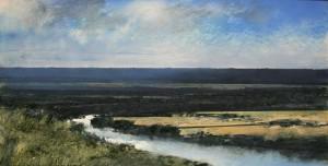 Fr-M01 The Seine Valley near Rouen. Size 42x84cm. Media Oil. Price £850