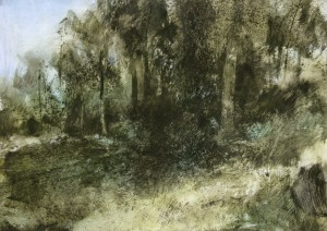 Fr-M03 Fontainebleau Forest. Size A1 60x84cm. Media Oil
