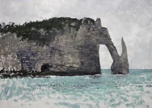 Fr-M04 Cliffs at Etretat. Size A1 60x84cm. Media Oil. SOLD