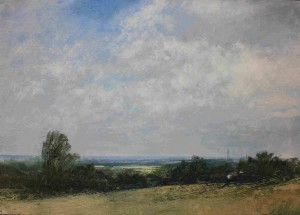 M1-M02 Summer Clouds over Streetly.Size A1 60x84cm. Media Oil.