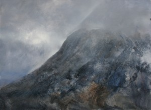 Sc-L01 Stob Dearg Sunray, Glen Coe. Size A0 (84x120cm) Media Oil. Price SOLD