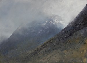 Sc-M01 Clouds,Snow and Sunlight in Glen Coe. Size A1 60x84cm. Oil. SOLD
