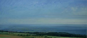 Sh-S04 View from Titterstone Clee summit. Size 21x42cm. Media Gouache. SOLD