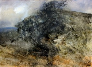 Wa-L04 Rocky outcrop in Bwlch y Gorddinan. Size A0 (84x120cm) Media Oil. Price £1950