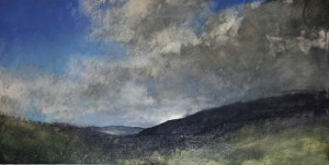 Wa-L08 Looking along the Dyffryn Valley towards Capel Curig Size 60x120cm. Media Oil. SOLD