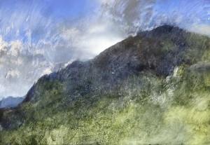 Wa-M02 View towards Pen-y-Pass. Llanberis Pass Size A1 60x84cm. Media Oil. SOLD