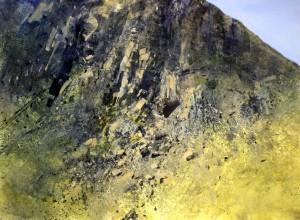 Wa-M07. Moel Dyrnogydd. Size A2 42x60cm. Media Oil.