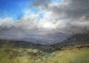 Wa-M09 View North-West from the slopes of Cadair Idris. Size A2. Media Oil. SOLD