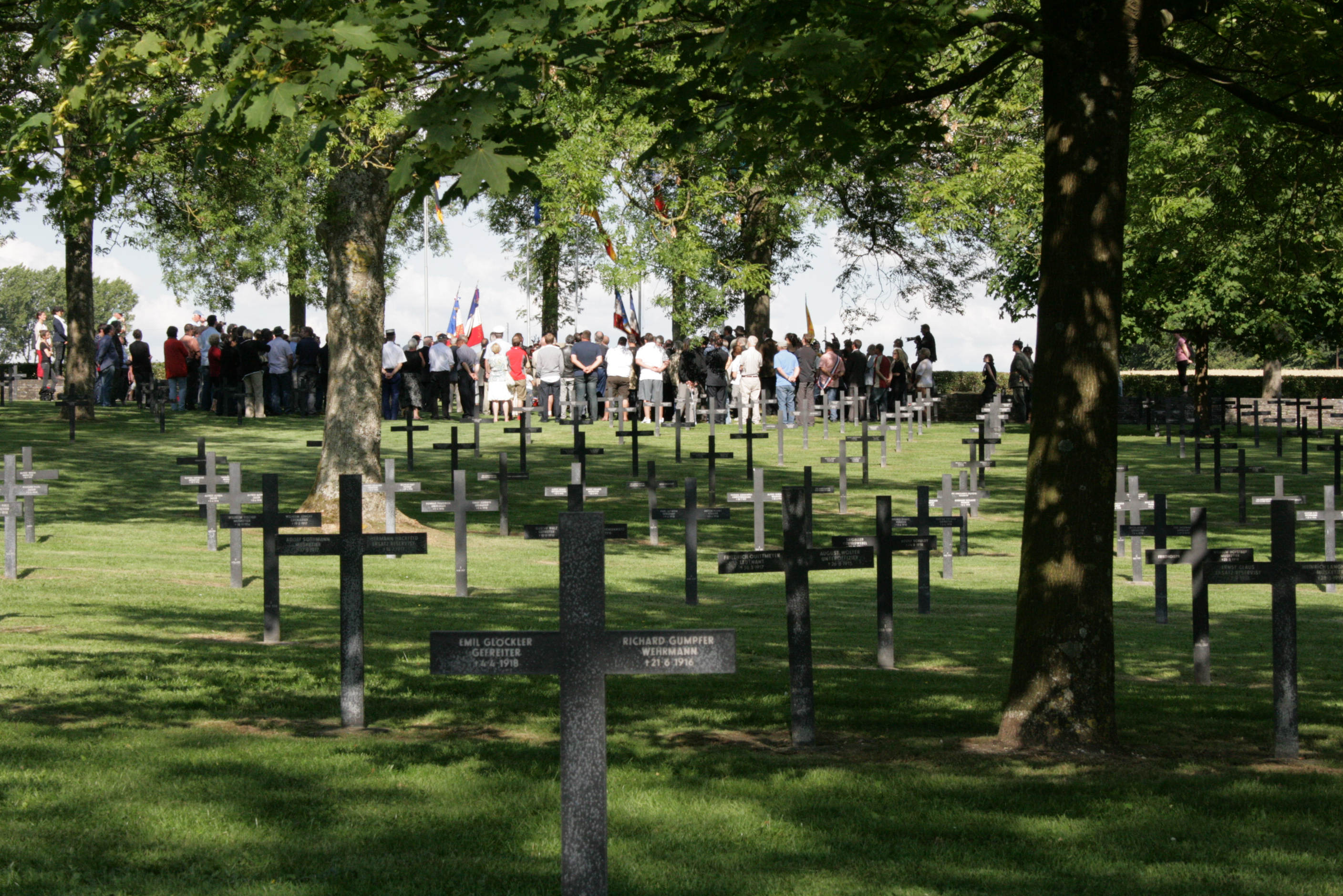 1st July 2011  5.00pm. Remembrance Service at German Cemetery, Fricourt.