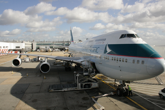 Cathay Pacific Airways. Flight  252  12.30pm 16 October 2012