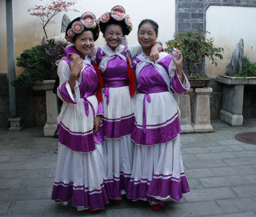 Naxi Dancing Girls. . Lijiang  18 October 2012