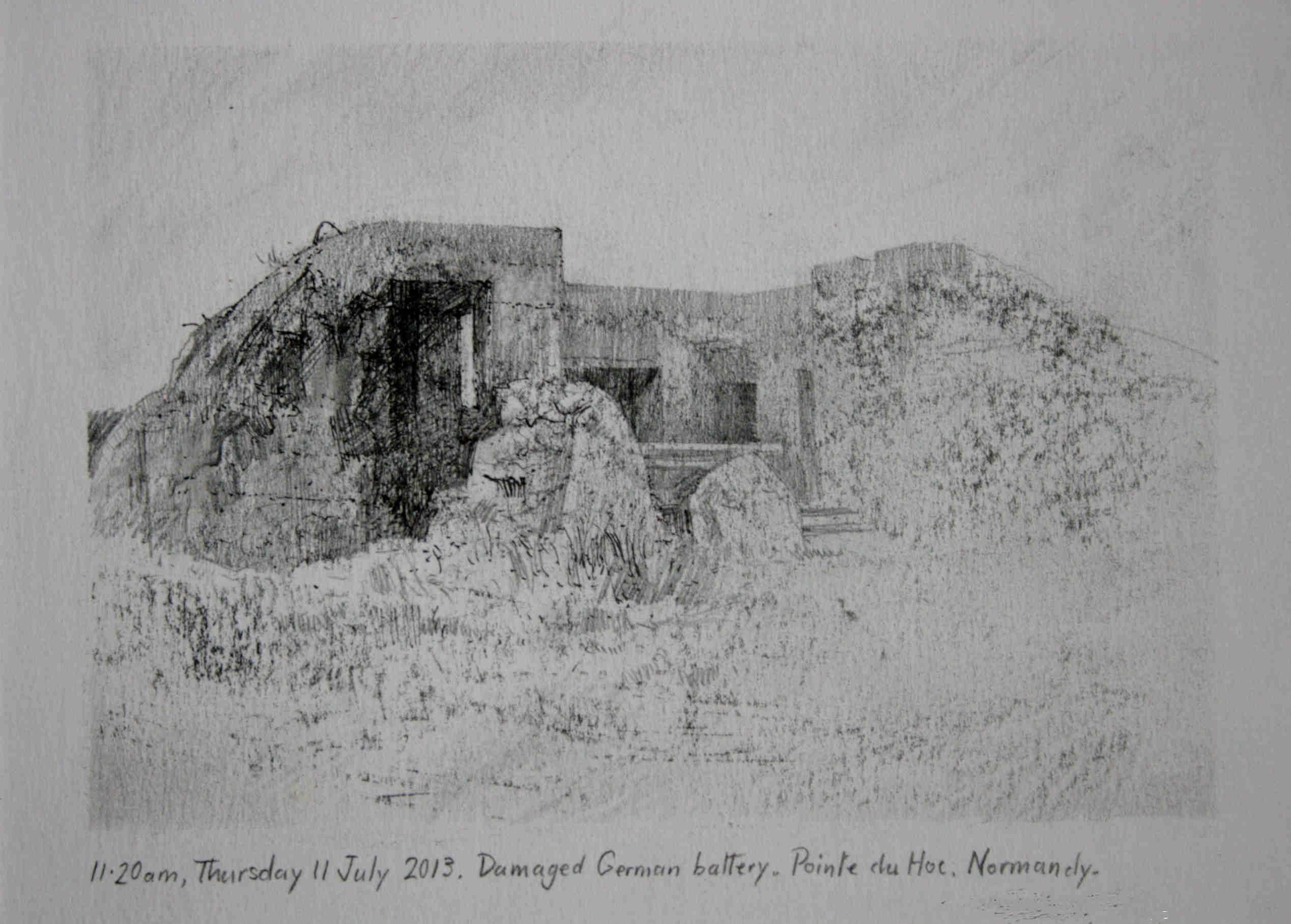 9.30am, 11 July 2013. German defensive installation.,  Pointe du Hoc.