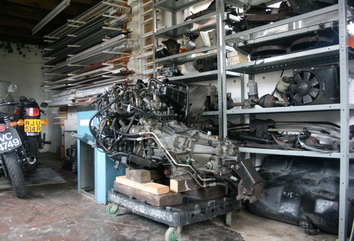 N608 KBX dismantled.       Engine, gearbox and mechanical parts
