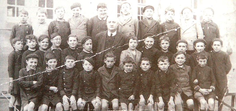Orad97Ar-08  Archive. The Boys' School with M. Rousseau, their teacher