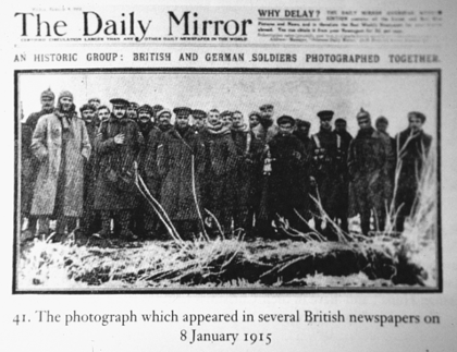 The photograph which appeared in several British  newspapers on 8 January 1915.