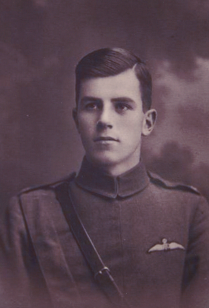 Thomas Harry Laing  RAF (03.03.1898 - 30 Aug.1918) Shot down and killed near Metz, 1918. Victoria's cousin. EW,4, Archive,