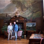 Robert Perry in the studio of Charles-Francois DAUBIGNY (1817- 1878) at Auvers-sur-Oise, with Daubigny's Great-Great Grandson.