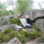 Robert Perry at work in the Gorges d'Apremont. 9 July 2007. Photo