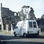 The van at Oradour. Feb 1997. Photo