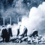 Auschwitz-Birkenau. Burning bodies 1944 Archive photo