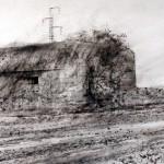"Blockhaus ""B"" near Houdain Lez Bavay. 22 March 2002. A2 Charcoal-ink"